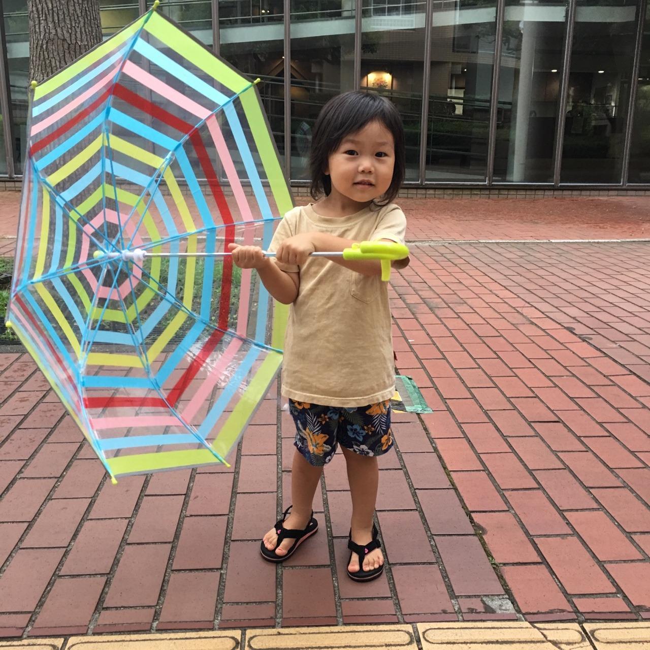 カラフル傘の雨の日ねねコーデ