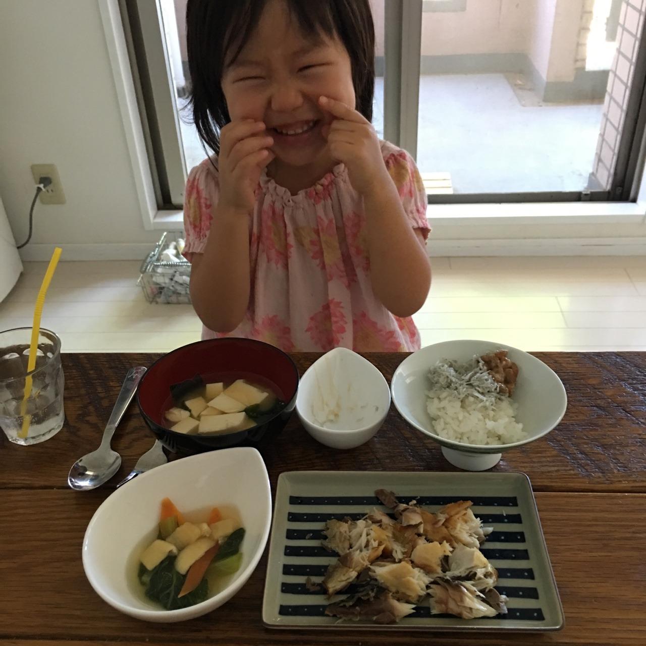 和食朝ごはんとベーグル晩ごはん