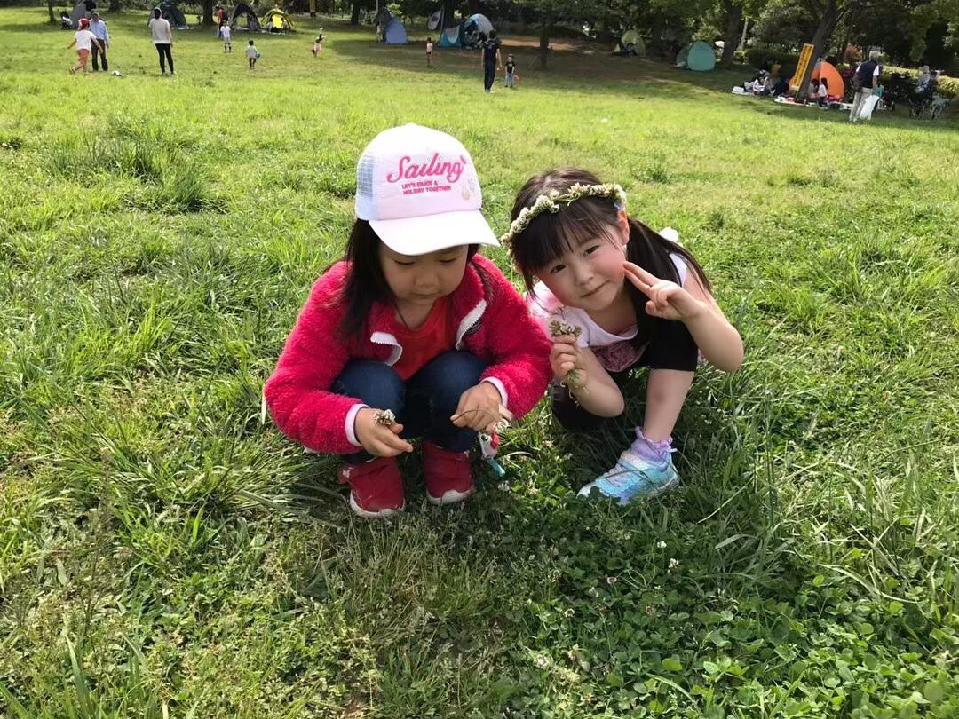 妹ファミリーと母と一緒にピクニック。