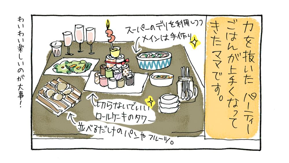 【漫画動画】3歳誕生日とイベントごはん/3歳0ヶ月1日の記念撮影