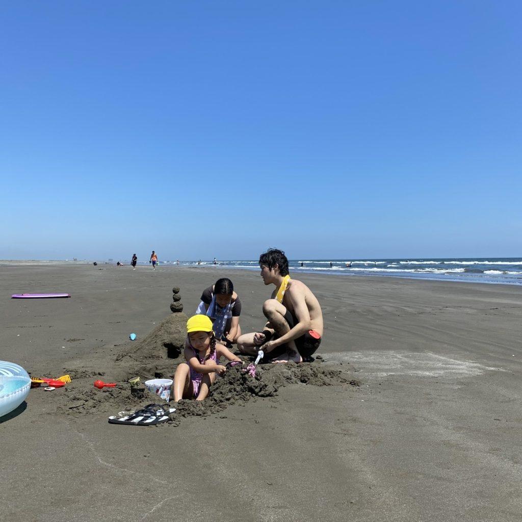 幼児の日常 子育てブログ | 本須賀海水浴場
